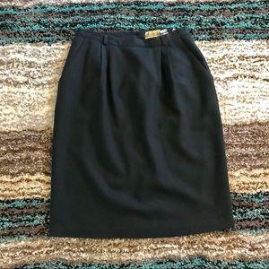 Vintage Navy Wool Skirt